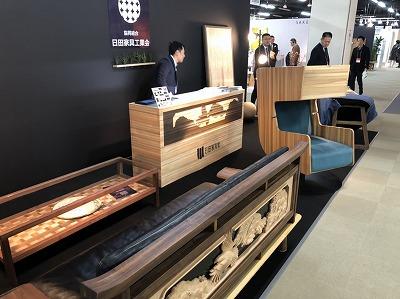 「大川新春展」で日田家具新商品を出展